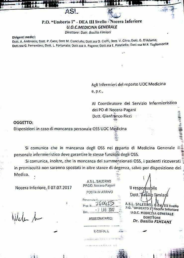 Salerno infermieri parificati oss ipasvi insorge for Subito offerte lavoro salerno